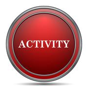 Activity icon. Internet button on white background.. Stock Illustration