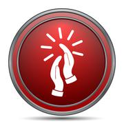 Applause icon. Internet button on white background.. Stock Illustration