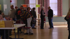 Ohio voters cast their ballots in the presiential election. Stock Footage