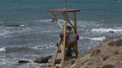 Costa del Sol Spain Life Guard Stock Footage