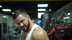 Close-up of a muscular man with strong arms Stock Footage