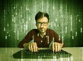 Online hacking in progress concept Stock Photos