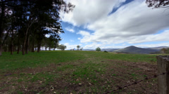 Timelapse Clouds Australian Countryside Arkistovideo
