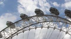 Time Lapse of London Eye MIllennium wheel spinning London Stock Footage