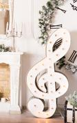 Christmas music concept - treble clef Stock Photos
