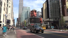 View along West 34th Street towards the Empire State Building (in 4K), New York. Stock Footage