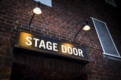 Theatre stage door Stock Photos