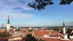Overview from the old town of Tallinn Stock Footage