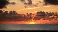 Scenic Miami sunset timelapse, Florida, USA Stock Footage