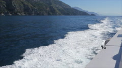 Amazing view on the Italian coastline and the Mediterranian sea from ferry boat  Stock Footage
