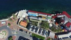 Aerial of Riffort in Otrobanda, CUracao Stock Footage
