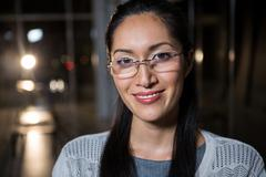 Portrait of businesswoman in spectacle Stock Photos