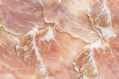 Slices of ham Stock Photos