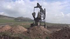 Ayn Issa, Syria, Own oil rig, SDF - YPJ,YPG Rojava scene Stock Footage
