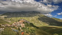 Timelapse of Castelluccio during Fioritura - blooming in Italy. Stock Footage