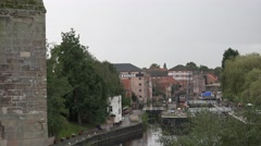VEIW OF RIVER TRENT FROM NEWARK CASTLE Stock Footage