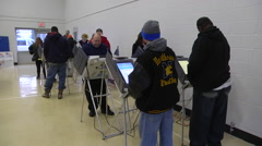 Ohio voters cast their ballots in the presidnetial election. Stock Footage