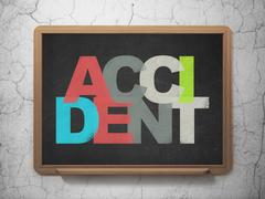 Insurance concept: Accident on School board background Stock Illustration