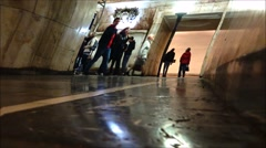 The creative vision of the Moscow subway, taymlaps. Stock Footage