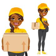 African American Courier Stock Illustration