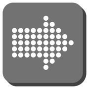 Dotted Arrow Right Rounded Square Vector Icon Stock Illustration
