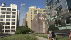 The High Line elevated walkway in Manhattan, New York City. Stock Footage
