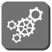 Mechanism Rounded Square Vector Icon Stock Illustration