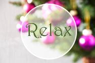 Blurry Balls, Rose Quartz, Text Relax Stock Photos