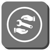 Service Rounded Square Vector Icon Stock Illustration
