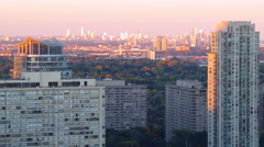 Sunset Day to Night Time Lapse Mississauga Toronto Stock Footage