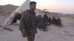 Syria, - February, 2016: Hasaka al Halle, SDF,ISIS war, SDF – YPJ,YPG Stock Footage