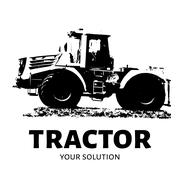 Tractor sketch. Agricultural machinery on a white background. Stock Illustration