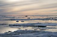 Sunset in Greenland Stock Photos