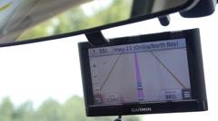 Garmin GPS - driving Stock Footage