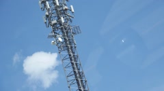 Radio Tower - Pan down Stock Footage