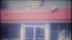 Woman at Howard Johnson's turnpike restaurant, 3719 vintage film home movie Stock Footage
