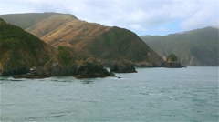 Journey on the sea at Cook Strait Stock Footage