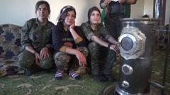 February 2016: YPJ women military in Syria, SDF - YPJ (YPG) Stock Footage