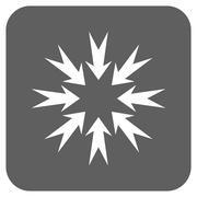 Pressure Arrows Flat Squared Vector Icon Stock Illustration