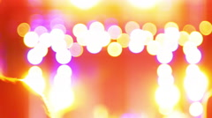 4K Party Atmosphere Concert Lights at Stage Background Stock Footage