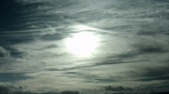 Misty sky and sun at Nagano, no color grade Stock Footage