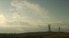 Steel tower and cloud stream  at Takabocchikogen Stock Footage