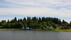 Landscape of the island of Kizhi in northern Russia Stock Footage