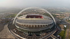 Aerial View of Wembley Stadium in London 4K UHD Footage Stock Footage