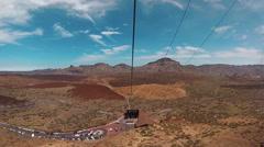 Cable way to volcano El Teide, Tenerife Stock Footage