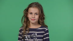 Cute little girl gazing Stock Footage