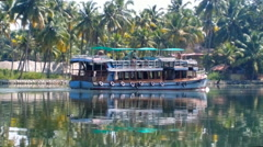 Water transport of India  Stock Footage