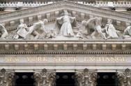 Detail of the New York Stock Exchange Stock Photos