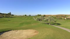 Green golf course steady shot 4k Stock Footage