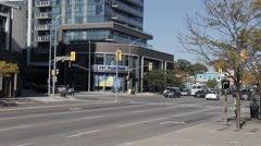 Time lapse of busy intersection in west Toronto Stock Footage